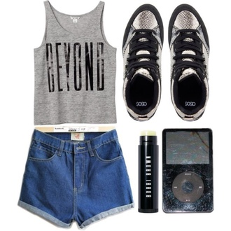 shoes casual snake print black shorts tank top ipod bobbi brown