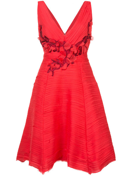 dress cocktail dress pleated women red