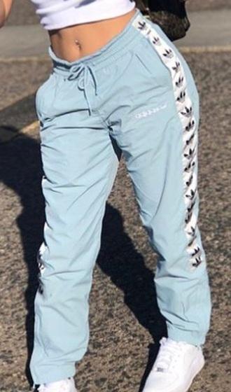 pants light blue adidas