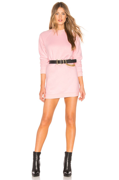 Lovers + Friends Charlie Sweatshirt Dress in pink