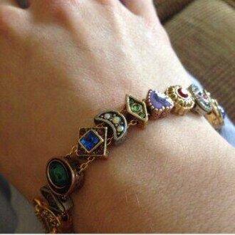 jewels moon bracelets beautiful magic heart colorful