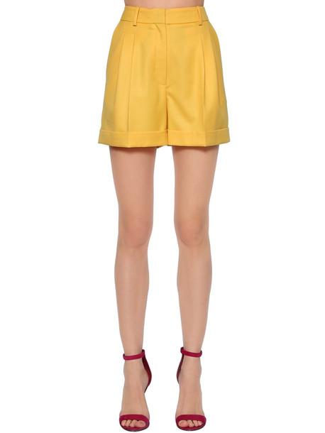 RACIL Cool Wool High Waist Shorts in yellow