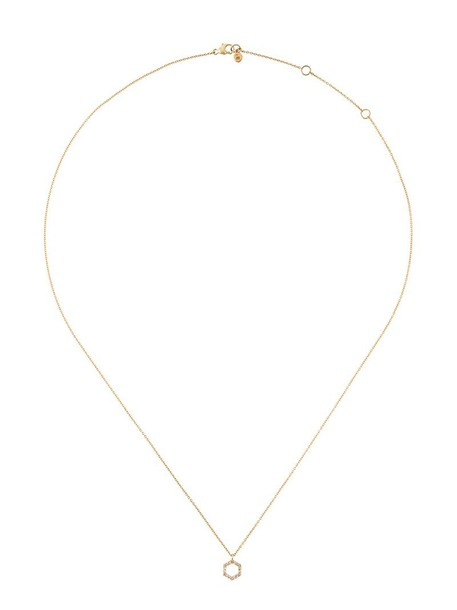 women necklace pendant gold grey metallic jewels