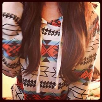 jacket aztec print hoodie aztec hoodie