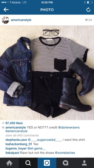 t-shirt striped shirt black and white blouse pocket t-shirt crop tops jean jaket jacket