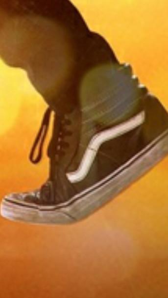 vans old skool black leather hi tops shoes 98ded6592e