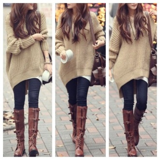 sweater clothes fashion winter sweater hoodie oversized sweater fall outfits kawaii girly top knitwear