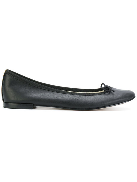 Repetto bow women leather black shoes
