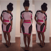 dress,tank top,pink,black,cute,girly,black girls killin it,dope,mesh,hot,outfit,shirt,skirt,shorts,shoes,Angela Simmons,two-piece