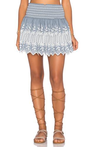 skirt mini skirt mini beach blue
