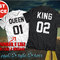Perfect couple t-shirt king and queen, unisex, gift, street style tees, boyfriend girlfriend presents