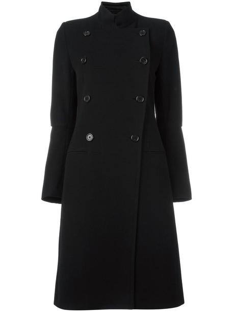 ANN DEMEULEMEESTER coat double breasted women cotton black wool