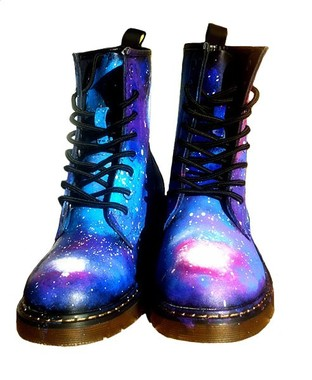 Hand Painted Galaxy Dr. Martens  - Bad Girls Clique