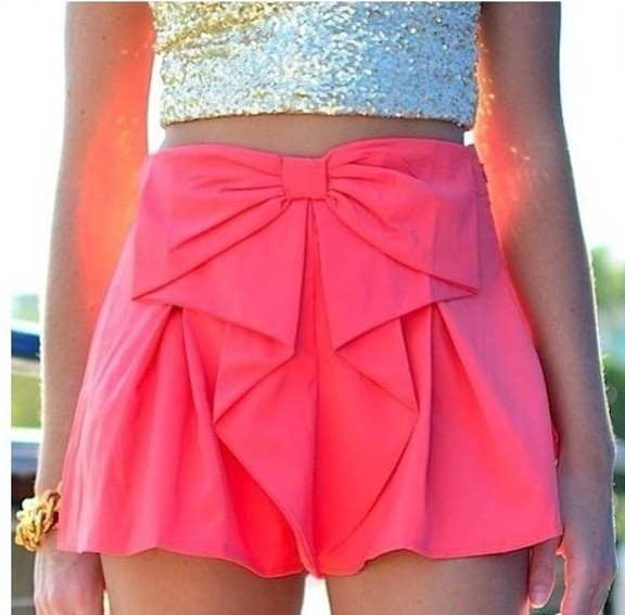 Shipping loosing bow waist shorts cute short J334-in Shorts from ...