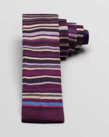 Paul Smith Stripe Knit Skinny Tie   Bloomingdale's