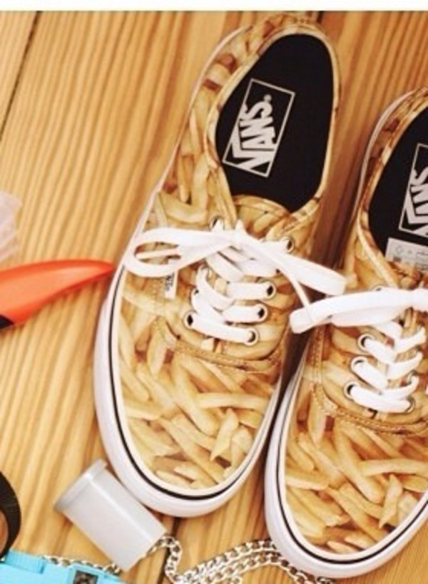 shoes vans chips printed vans basket