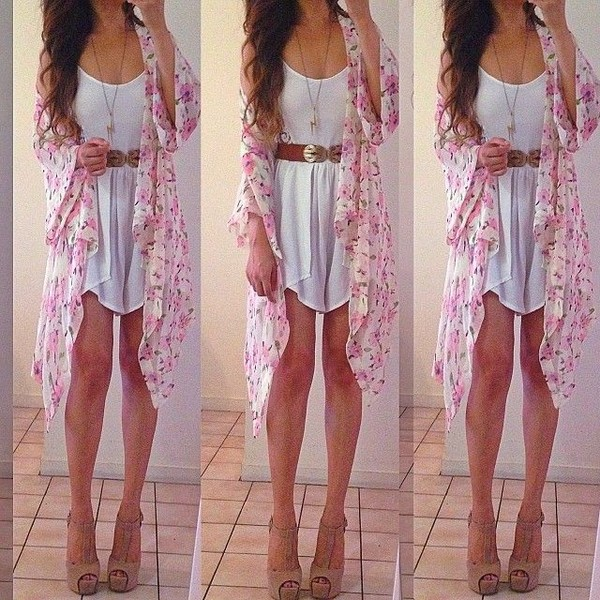 dress summer white jacket shoes coat clothes cardigan belt