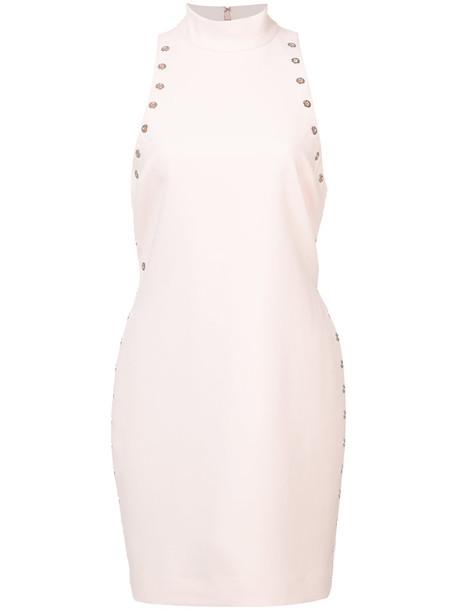 Cinq a Sept dress studded women spandex purple pink