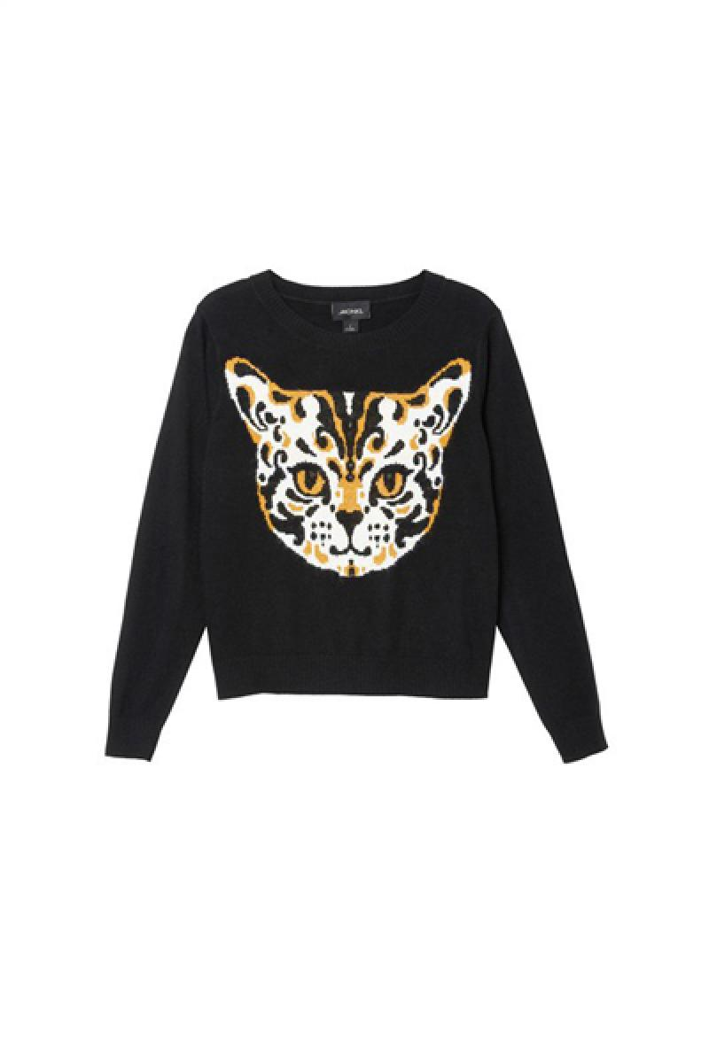 Leopard All-match Casual Ladies Knitwear,Cheap in Wendybox.com