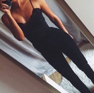 romper jumpsuit black romper jumpsuit/rompers black jumpsuit classy chic girly girl red lime sunday