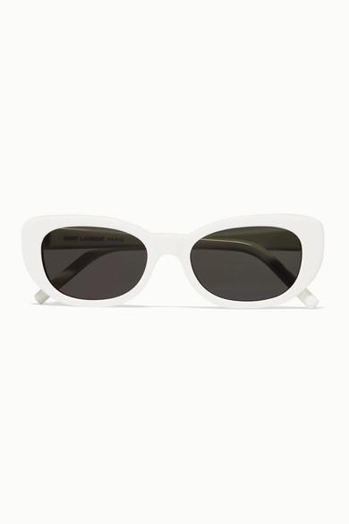 SAINT LAURENT - Betty Square-frame Acetate Sunglasses - White - Betty Square-frame Acetate Sunglasses