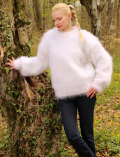 sweater,hand,knit,made,mohair,blouse,jumper,pullover,supertanya,soft,fluffy,angora,cashmere,alpaca,wool