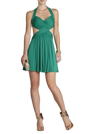 Shea Halter Cutout Cocktail Dress | BCBG