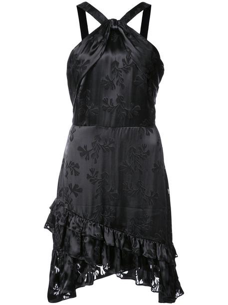 dress halter dress women black silk
