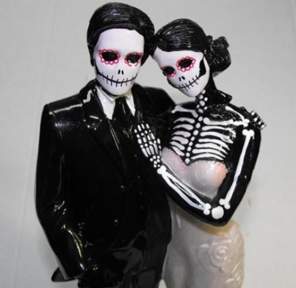 skull skeleton halloween make-up cake toppers halloween costume