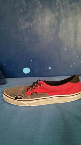 vans red gray