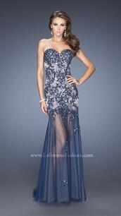 dress,la femme 20226,navy homecoming dresses