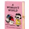 A woman's world embroidered book clutch