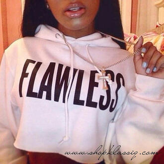 sweater flawless hoodie crop tops pullover fashion