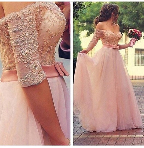 dress, prom dress, gown, wedding dress, fairy tale, pink dress ...