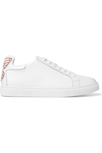 Sophia Webster embroidered sneakers leather white shoes