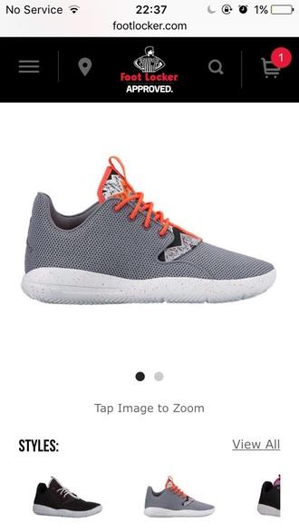 shoes girls air jordans jordans grey low top sneakers