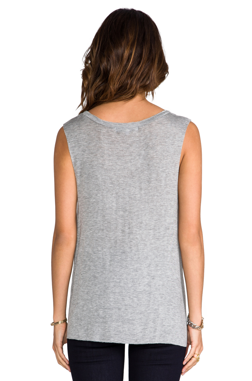 DAYDREAMER Pocket Muscle Tank in Heather Grey | REVOLVE