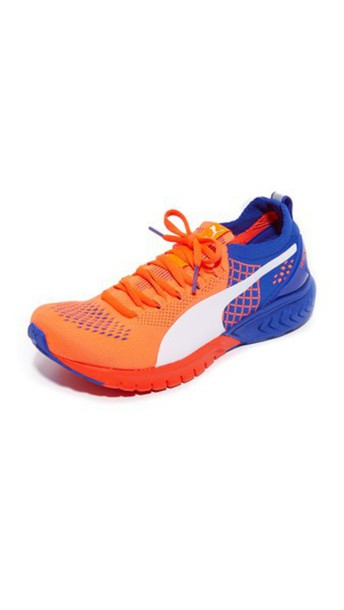 puma sneakers white blue royal blue red shoes