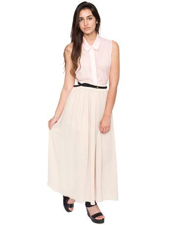 Layered full length skirt