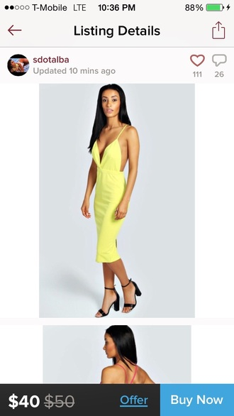 dress neon neon yellow asos