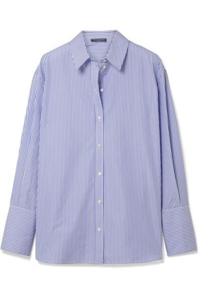 Alexander Mcqueen shirt oversized cotton blue top