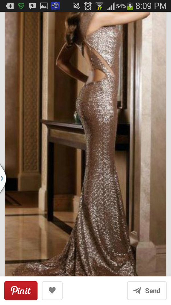 dress mermaid prom dress long prom dress prom dress gold sequins gold dress cut-out dress