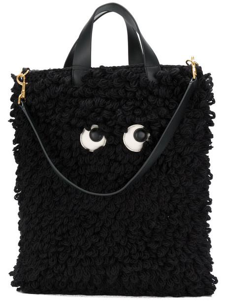 Anya Hindmarch eyes women black wool bag