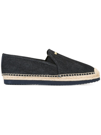 women braided espadrilles cotton blue shoes