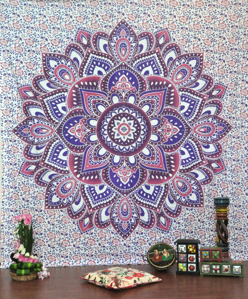 psychedelic mandala wall hanging magical thinking hippie tapestries beach throw. Black Bedroom Furniture Sets. Home Design Ideas