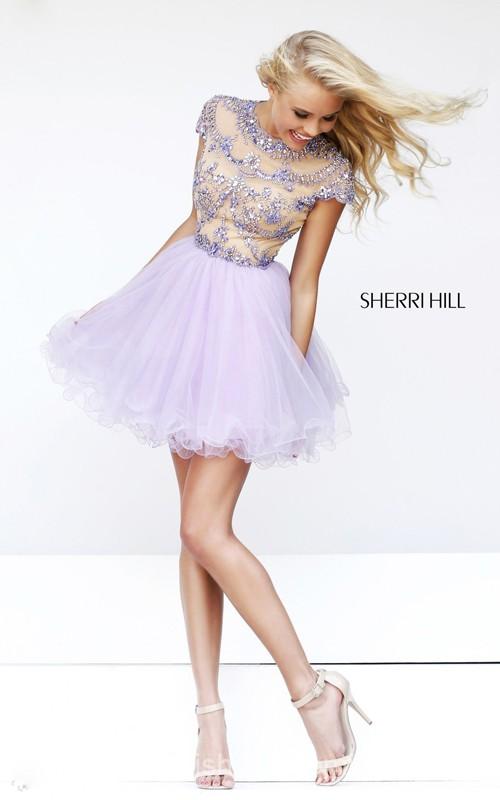 Beads Cheap Cocktail Dress Short Sherri Hill 21304