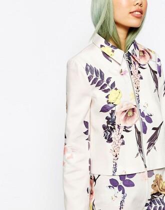 jacket floral blazer top clothes