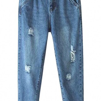 vintage jeans middle waist blue jeans skinny jeans distressed denim pants the middle