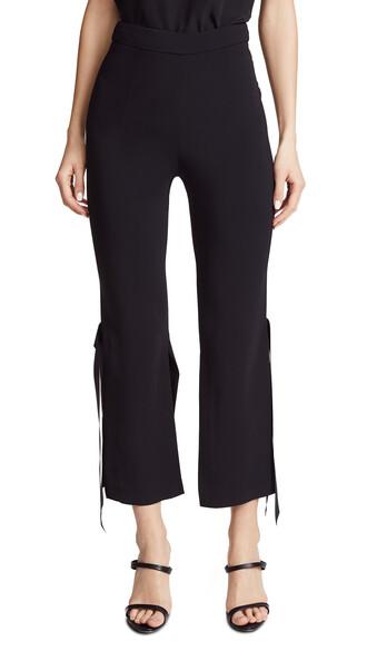 pants cropped pants cropped satin black