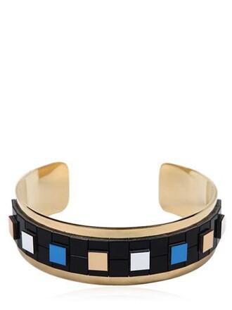 cuff cuff bracelet gold blue jewels